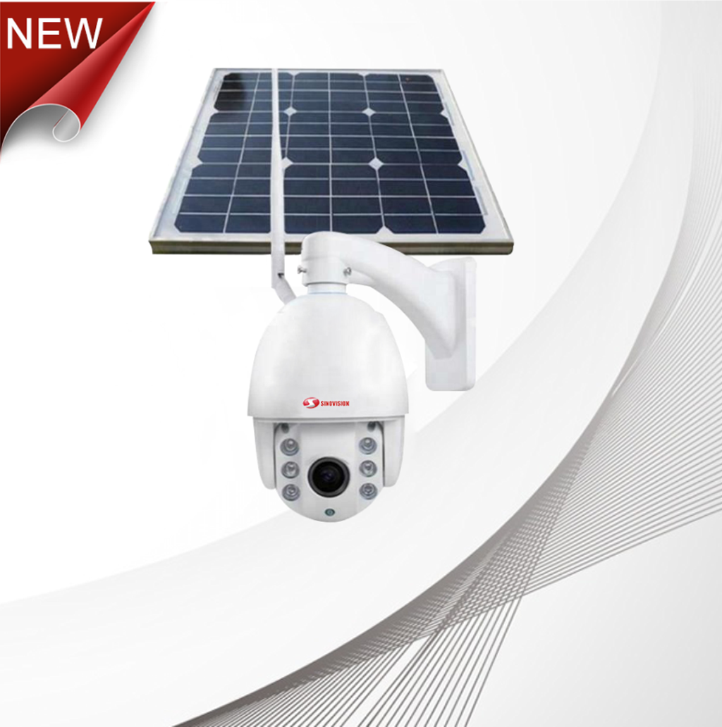 Sinovision 1080P Outdoor Solar Powered Dome 3G 4G PTZ Camera