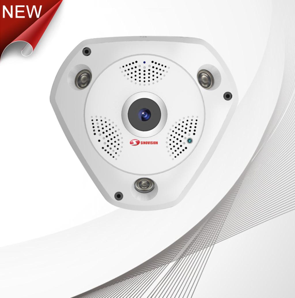 Sinovision 360 Degree Panoramic VR 1.3MP IPC Fisheye Camera
