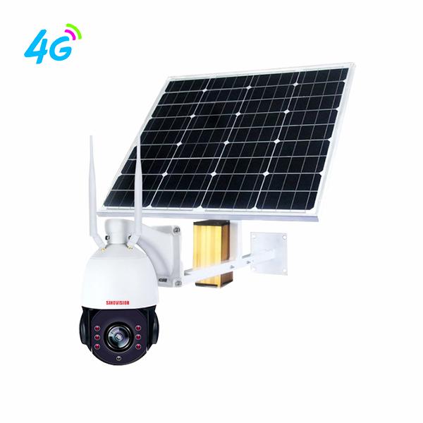 Sinovision 1080P 22x Optical Zoom 4G Solar Panel PTZ Camera