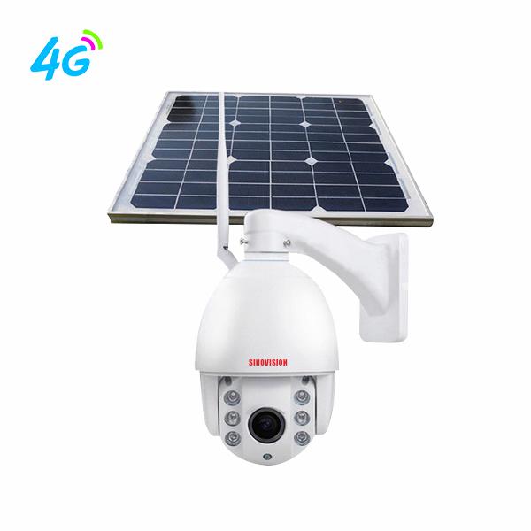 Sinovision 1080P 5x Optical Zoom 4G Solar Panel PTZ Camera
