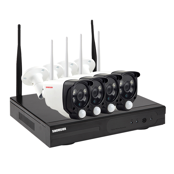 Sinovision 1080P 4CH WIFI PIR NVR KITS